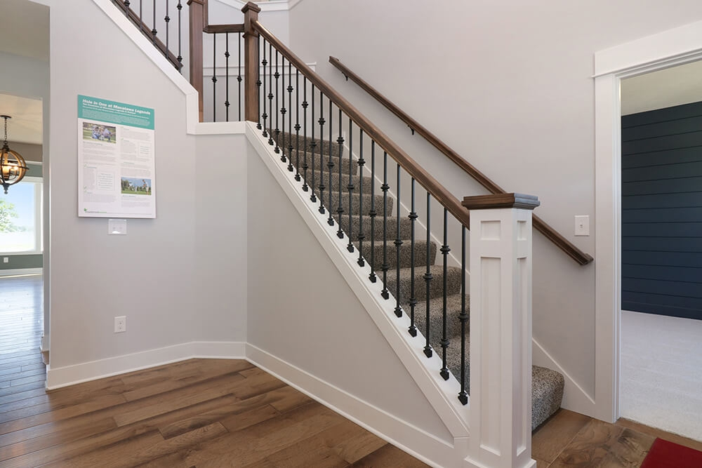 Wrought Iron Railing With Deluxe Newel Post Archives Eastbrook Homes | Deluxe Stair And Railing | Stainless Steel Stairs | Houzz | Barclay Hollywood | Mg Alloy | Interior Stair