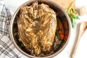 Slather turkey breast with butter mixture.