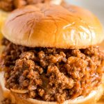 A close up picture of a sloppy joe.