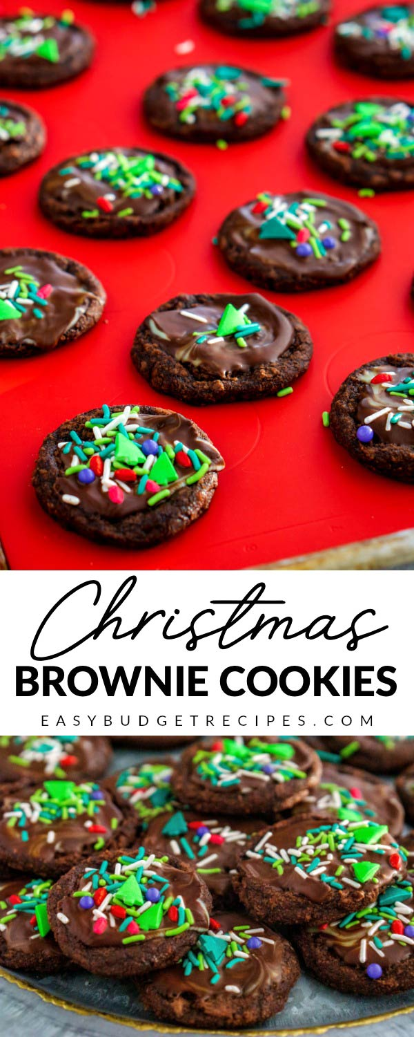 This easy Brownie Cookies Recipe is just the Christmas Cookie recipe to make for the busy holiday season. They cost just $4.75 to make and 15¢ per cookie. via @easybudgetrecipes