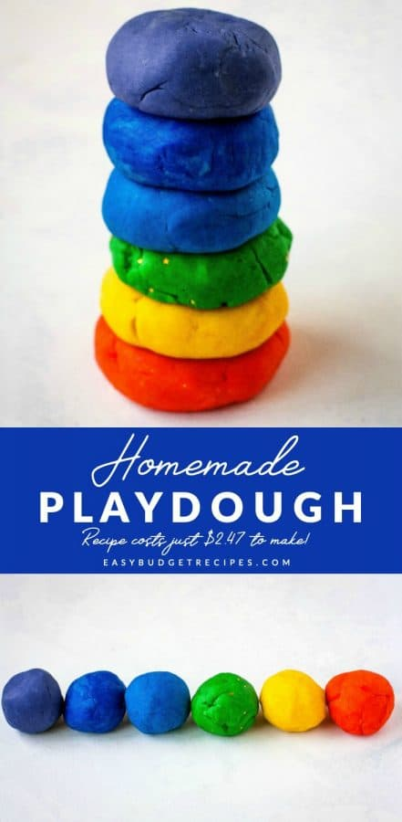 playdough picture collage with text overlay for Pinterest