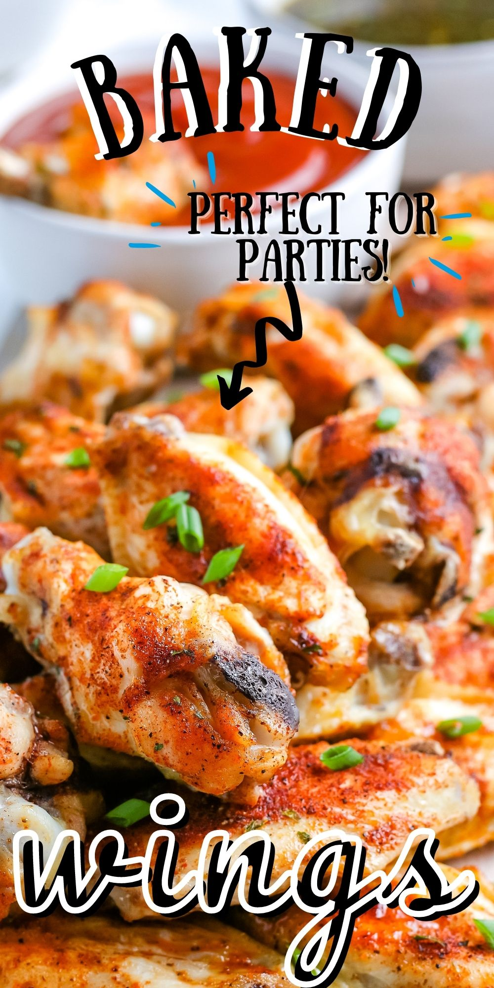 Our oven Baked Chicken Wings recipe takes about 30 minutes to make and is perfect for parties and the Big Game. We also include recipes for three different dipping sauces: Honey BBQ, Spicy Asian, and Sweet and Tangy. via @easybudgetrecipes