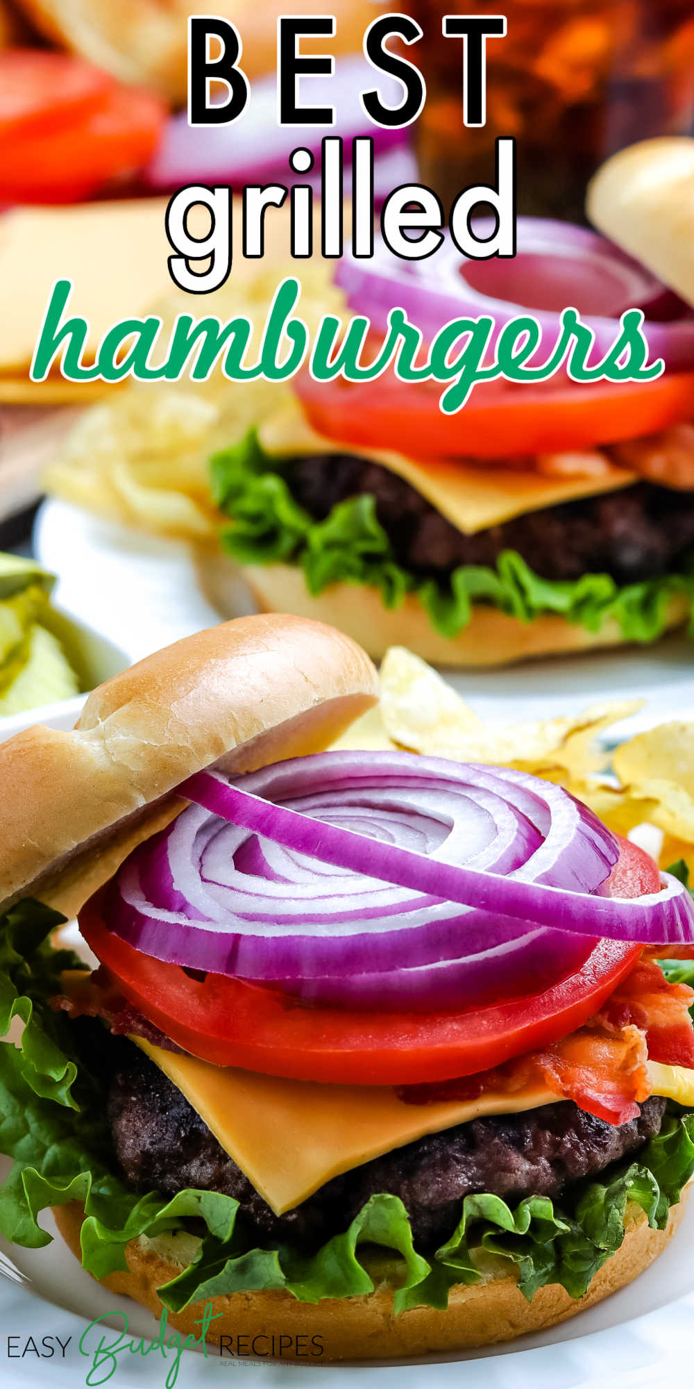 Our Best Grilled Hamburgers are a cookout classic. Skip the frozen patties and follow our easy, fool-proof, and flavorful tutorial to grill burgers. via @easybudgetrecipes