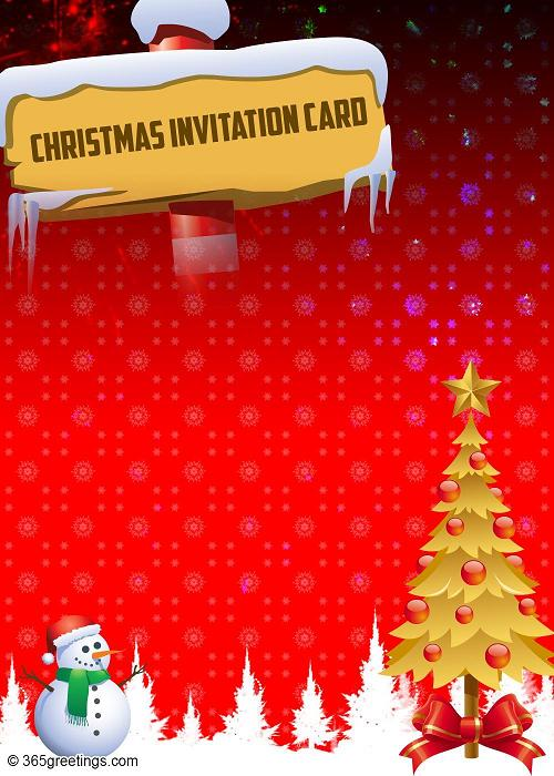 Printable Invitations Christmas Party