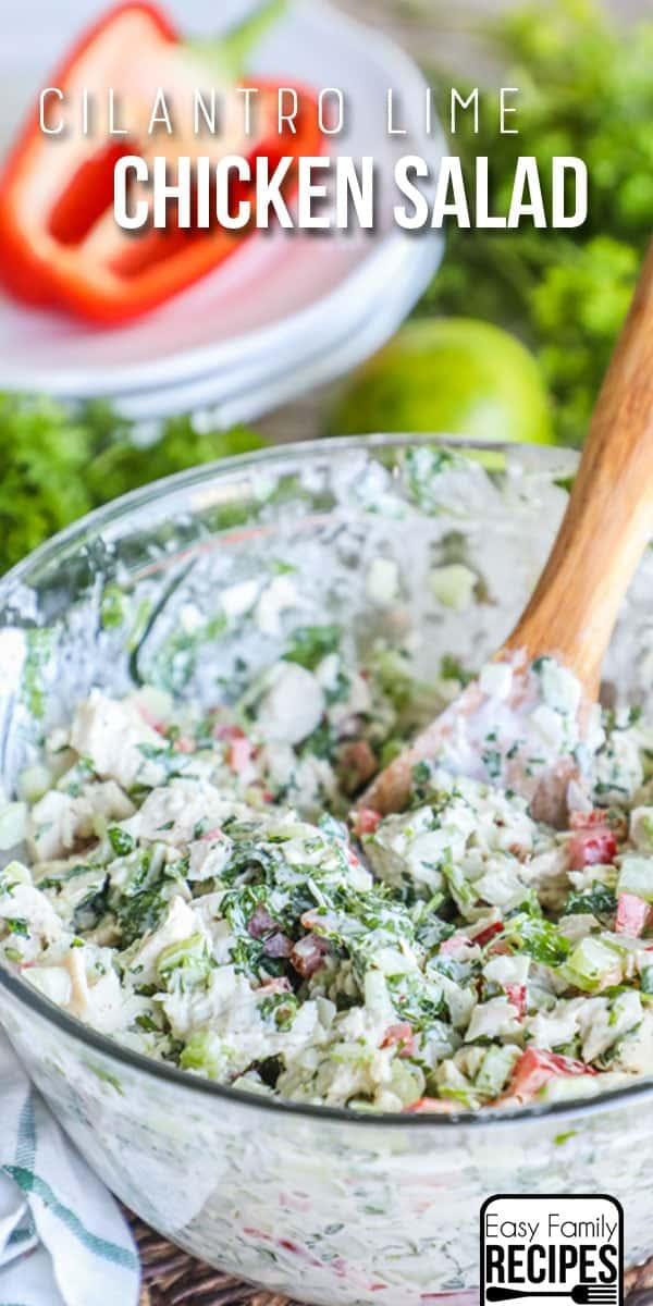 Cilantro Lime Chicken Salad Recipe - Creamy & Delicious