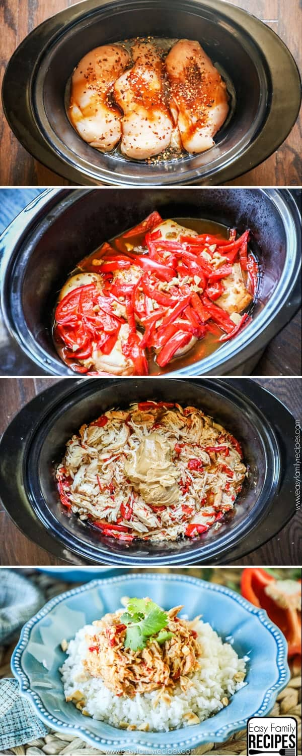 How to make Thai Chicken in the Crock pot
