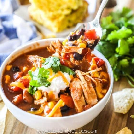 Instant Pot Chicken Chili Recipe