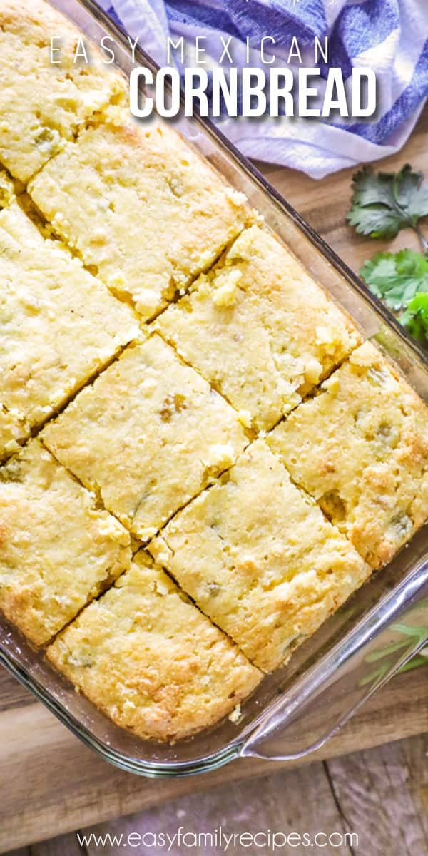 Mexican Cornbread made in pan