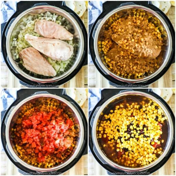 Chicken Chili in Pressure Cooker Step 1
