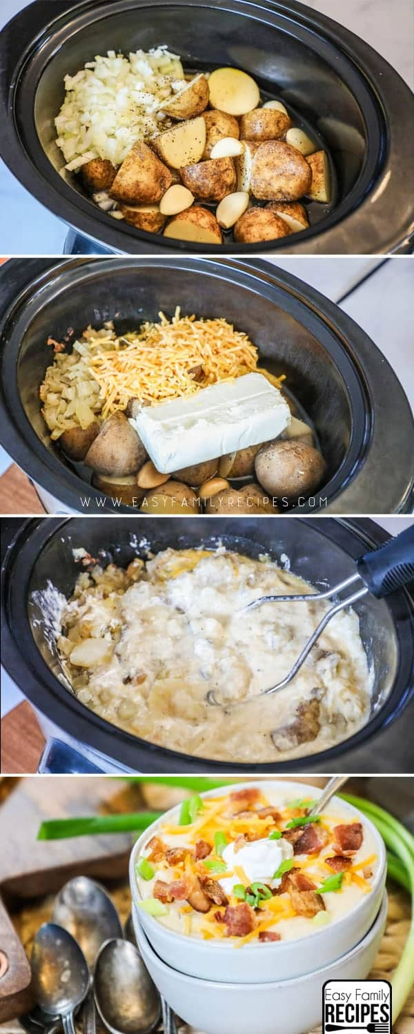How to Make Loaded Potato Soup in a Crock Pot
