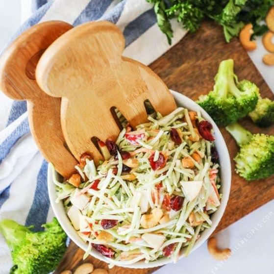 Broccoli Slaw Salad - perfect side for BBQ