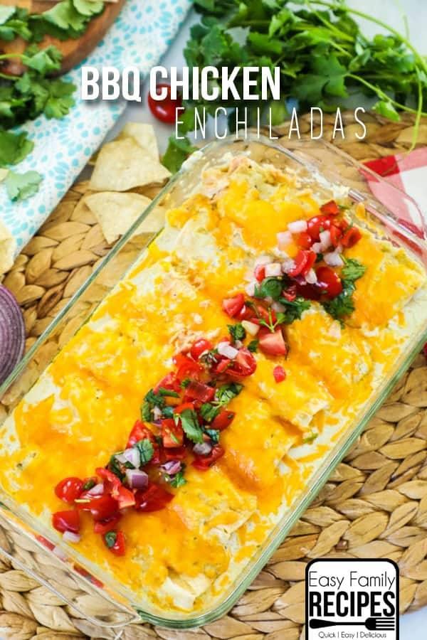 The BEST chicken enchilada recipe!