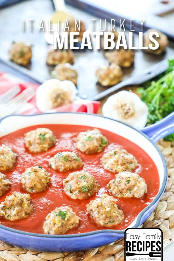 Our FAVORITE Homemade Turkey Meatballs