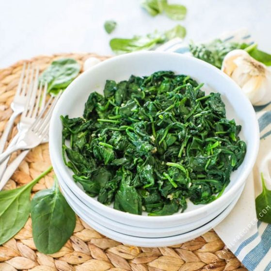 Easy Sautéed Spinach Recipe