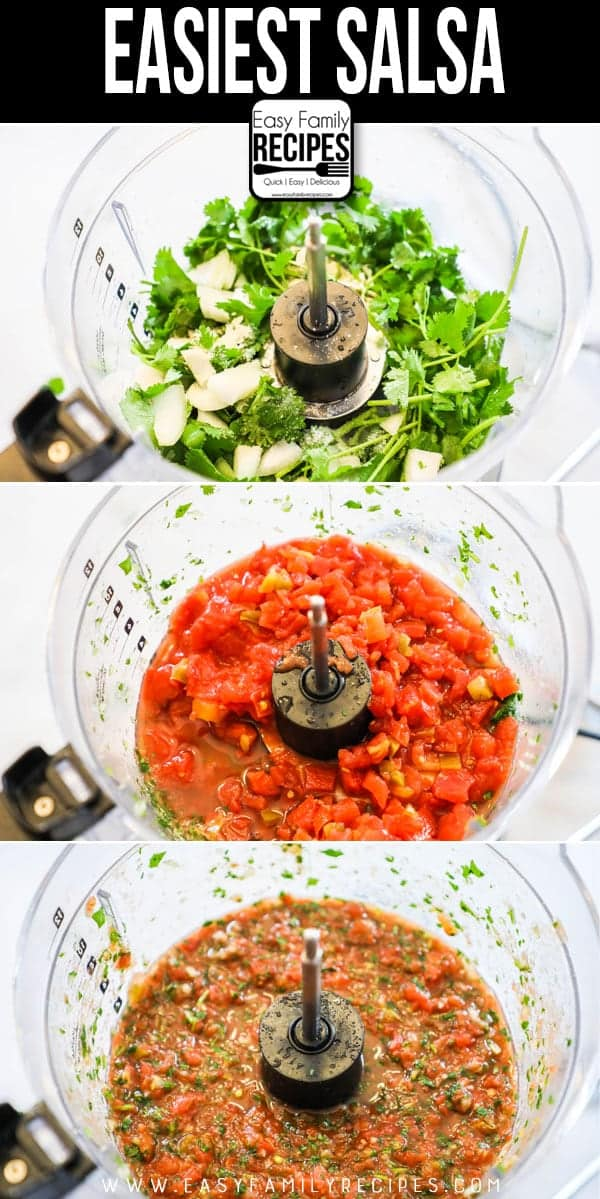 Quick & Easy - How to make HOMEMADE SALSA