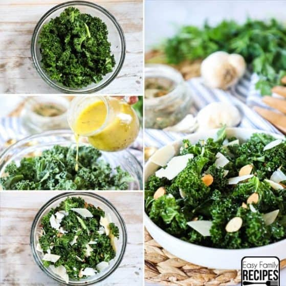 This Kale Salad is super healthy and delicious. Perfect for a quick lunch or a side at dinner.