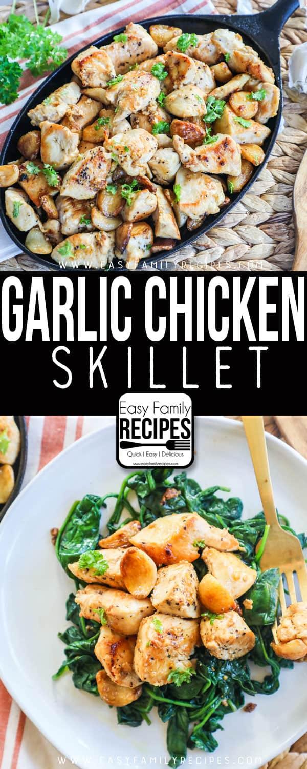 Garlic Chicken served with Spinach - Gluten Free
