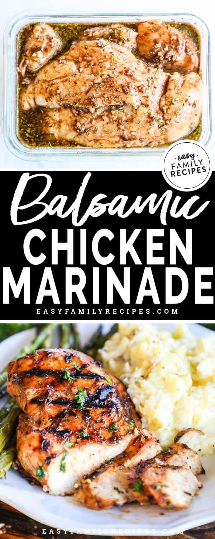 Chicken Marinating in balsamic chicken marinade