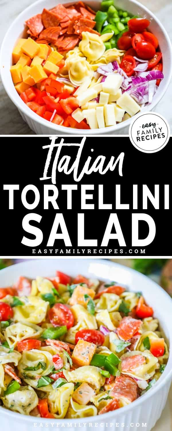 Italian Tortellini Salad is full of flavor and easy to make.