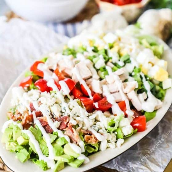 Recipe for chicken Cobb Salad.