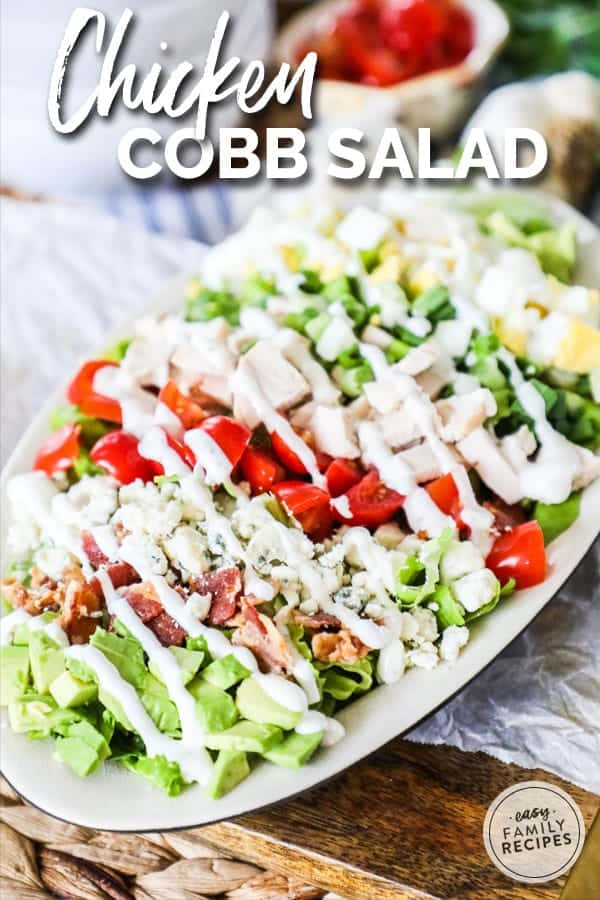 Chicken Cobb Salad is the perfect easy weeknight meal.