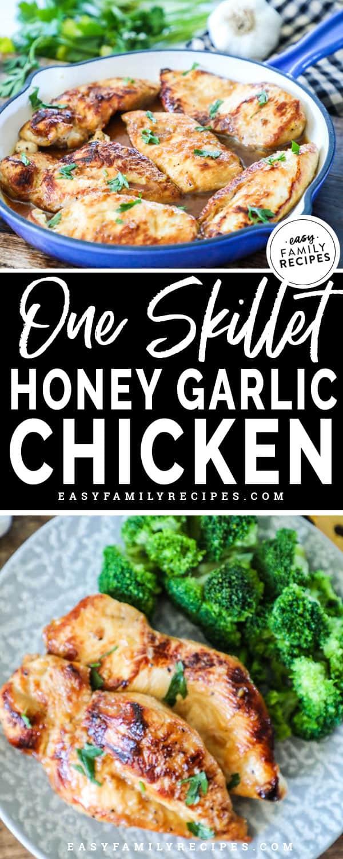 Honey Garlic Chicken served with broccoli