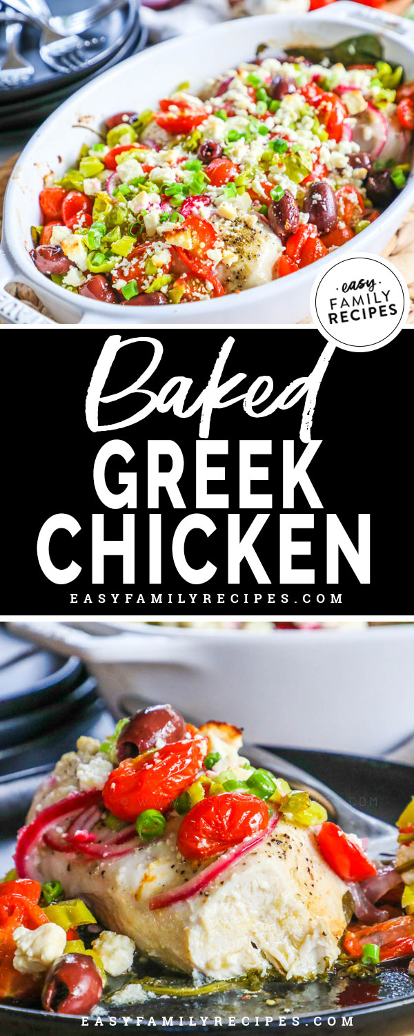 Baked Greek Chicken on a plate