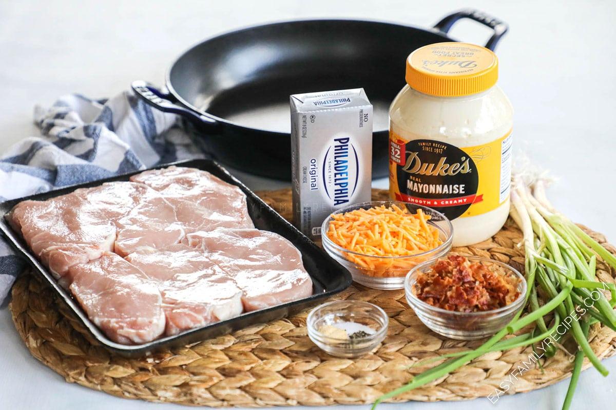 Ingredients for Million Dollar Baked Pork Chops