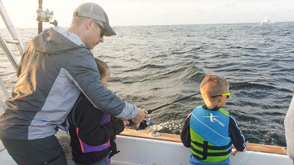 kids deep sea fishing