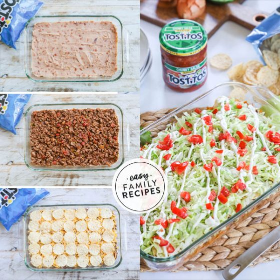 Step by step for making Taco Casserole