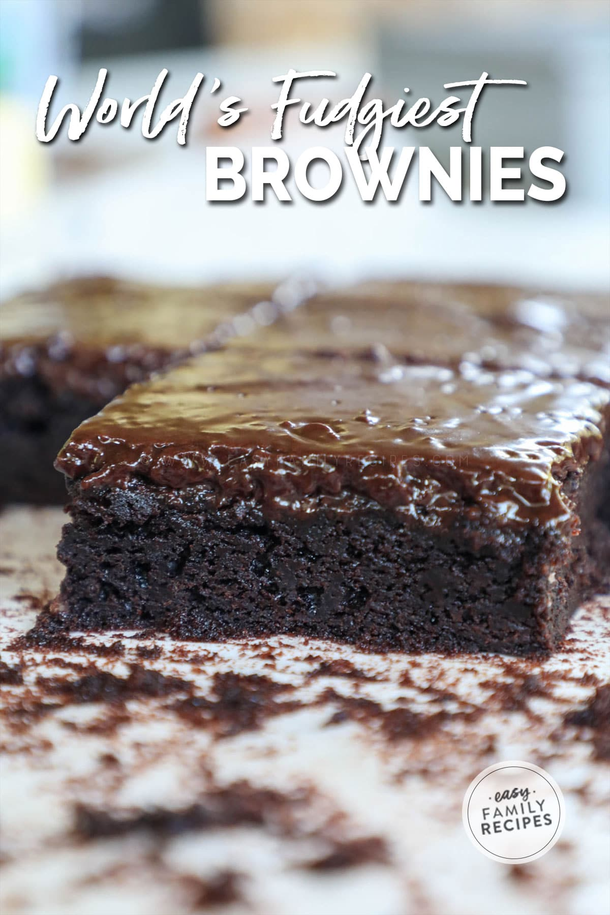 Frosted Fudge brownie ready to eat