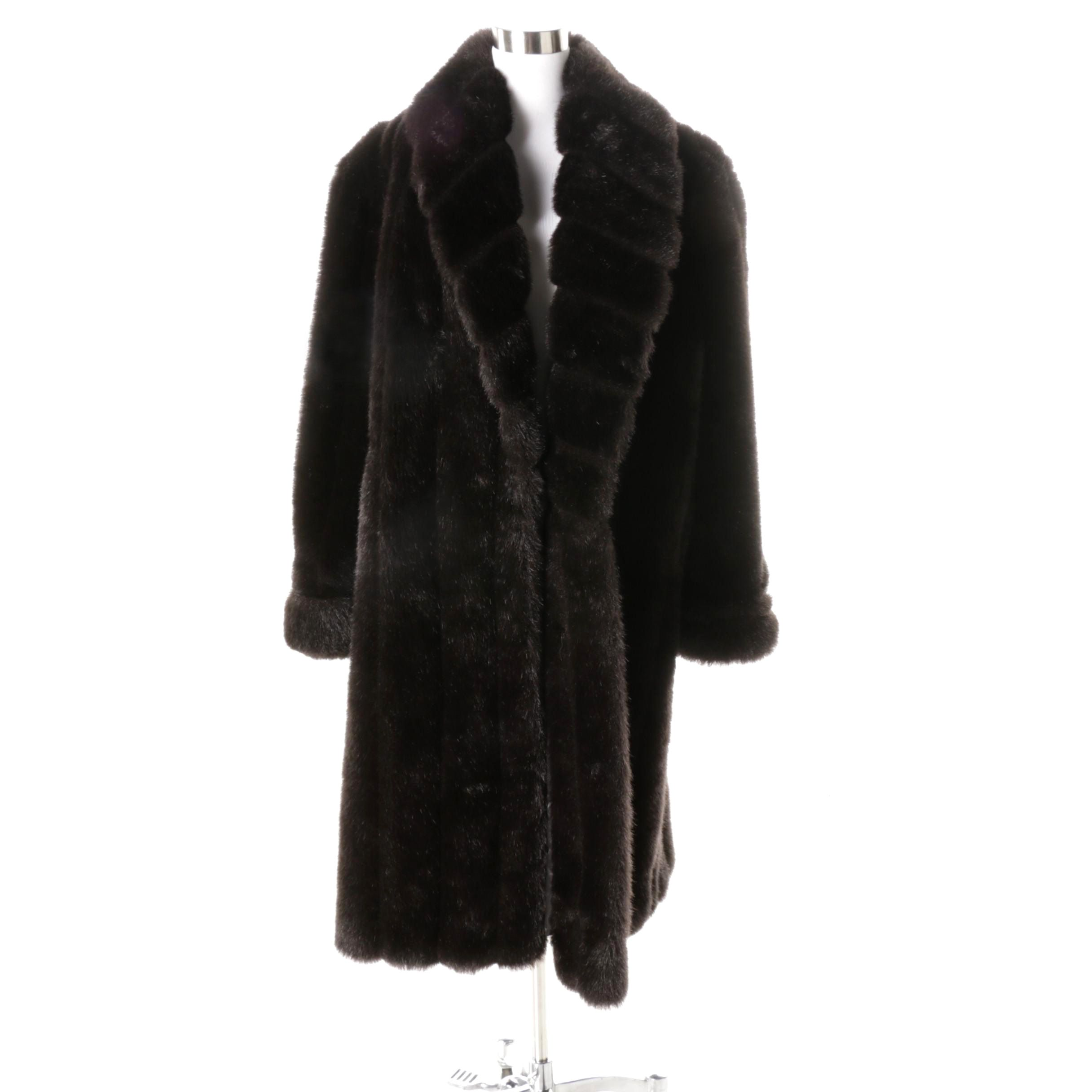 Monterey Fashions Faux Fur Coat   EBTH Monterey Fashions Faux Fur Coat
