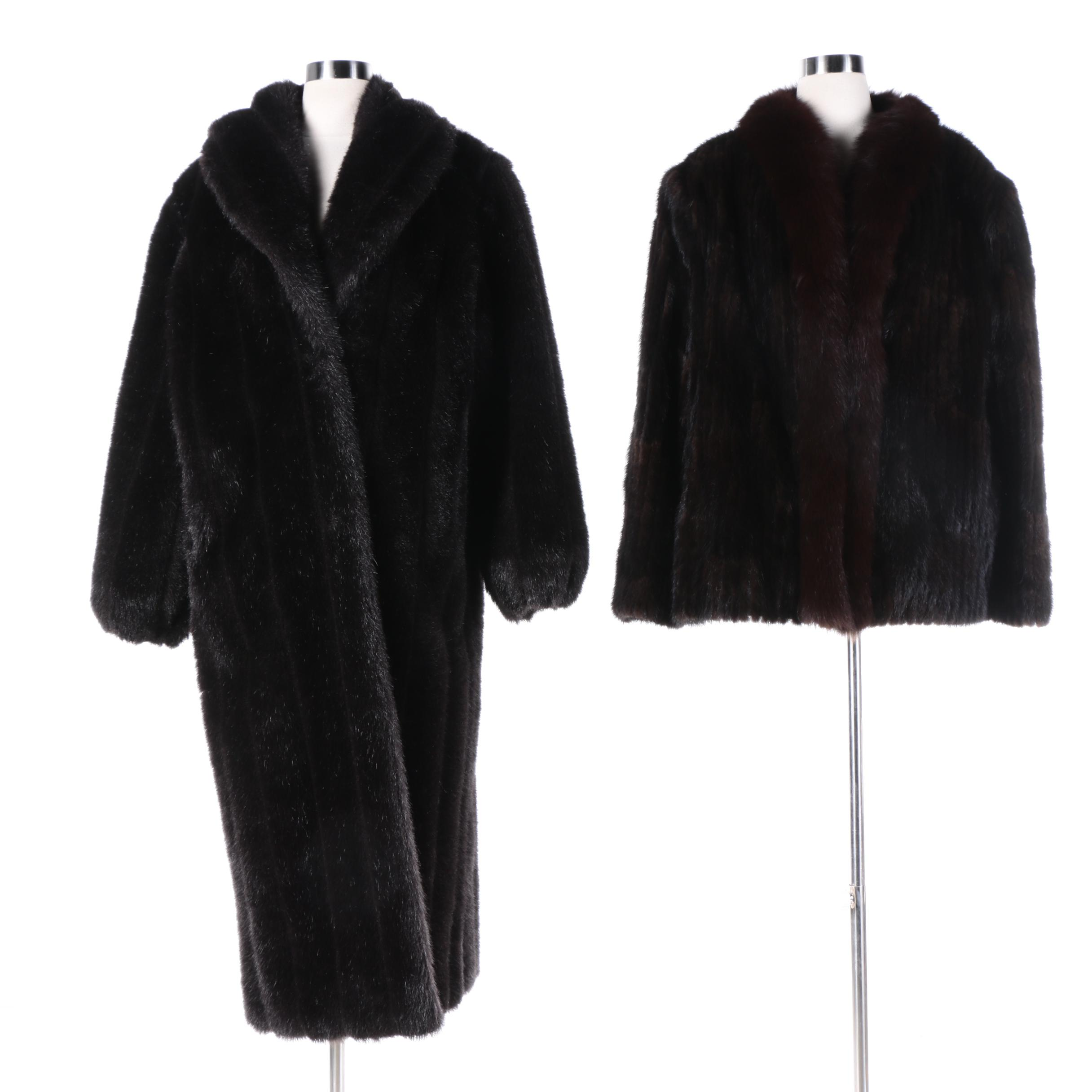 Saga Mink Fur Jacket and Monterey Fashions Faux Fur Coat   EBTH Saga Mink Fur Jacket and Monterey Fashions Faux Fur Coat