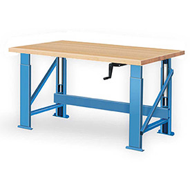 Work Bench Systems Adjustable Height Manual Hydraulic