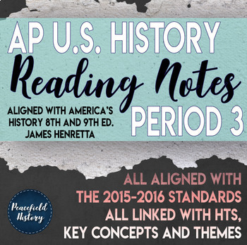 APUSH Period 3 Guided Reading Worksheets America s History Henretta