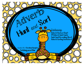 Adverb Hunt Teaching Resources   Teachers Pay Teachers     Adverb Hunt and Sort Task Cards and Activity