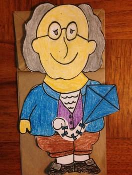 Benjamin Franklin Paper Bag Puppet By Puppet Korner N More