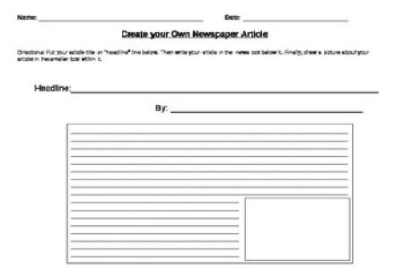 Free Job Resume Newspaper Report Template Job Resume