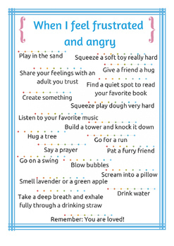 Calm Down Cards Strategies For Managing Anger And