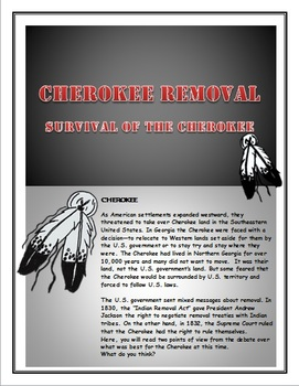Cherokee  Survival of the Cherokee  How to write an Essay by Teach N     Cherokee  Survival of the Cherokee  How to write an Essay