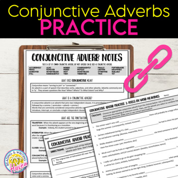 Conjunctive Adverbs Practice Worksheets by Reading and Writing Haven Conjunctive Adverbs Practice Worksheets