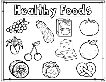 healthy food coloring pages # 5