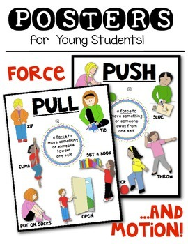 Force And Motion Push And Pull Science Posters For The