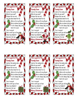 *Freebie* Legend of the Candy Cane by 2teach4fun | TpT