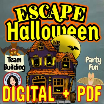 Escape Room Halloween Classroom Game Activity for Parties   TpT Escape Room Halloween Classroom Game Activity for Parties