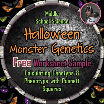 Halloween Genotype and Phenotype Punnett Square Worksheet ...