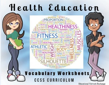 Health Education Vocabulary Worksheets by Educational Network Exchange Health Education Vocabulary Worksheets