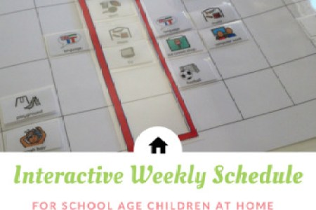 Weekly Timetable Template Teaching Resources   Teachers Pay Teachers     Interactive Weekly Schedule for Home   School Age