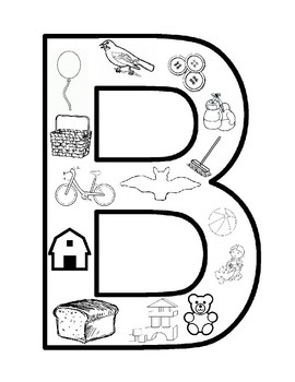 b coloring page # 4