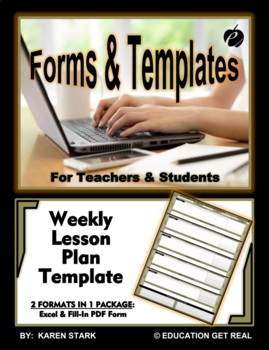 WEEKLY LESSON PLAN TEMPLATE  Excel   Plan Ahead  Be Organized     WEEKLY LESSON PLAN TEMPLATE  Excel   Plan Ahead  Be Organized    Follow Through